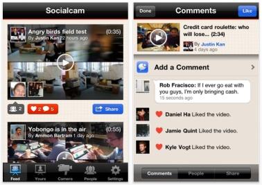 SocialCam, la red social para compartir vídeos