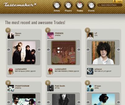 TasteMakerx, un juego de bolsa dónde descubrir artistas musicales